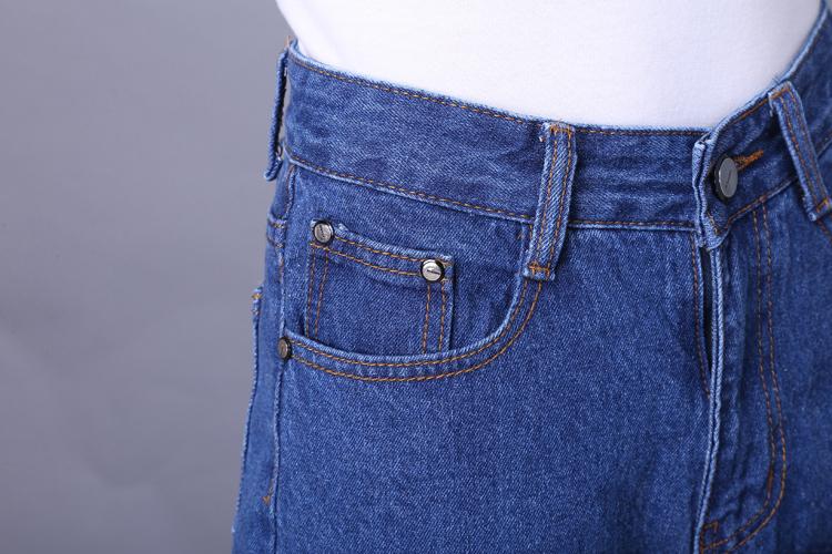 ... 2015 Newest Summer Jeans Pants Plus Size Women Loose Pants Fashion  Cropped Trousers Pants Capris Wide ... 4475f1883bd2