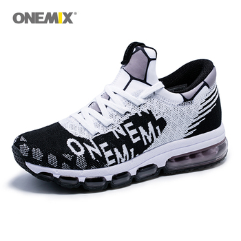 onemix air cushion running shoes for men sneakers lightweight knit mesh vamp sneakers damping for outdoor jogging walking shoes onemix 2017 new men s sports running shoes for men shock absorption mesh lightweight design comfortable air cushion shoes 1191