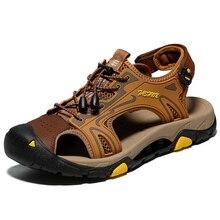 Big Size Classic Men Soft Sandals Comfortable Summer Shoes Leather Beach size 45