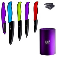 Practical Ceramic Knife Set 6 Chef 5 Slicing 4 Utility 3 Paring Knife Ceramic Peeler Knife