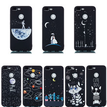 Universe Black 3D Painted Silicone Soft Case for Huawei Honor 10 9 lite Phone Cute