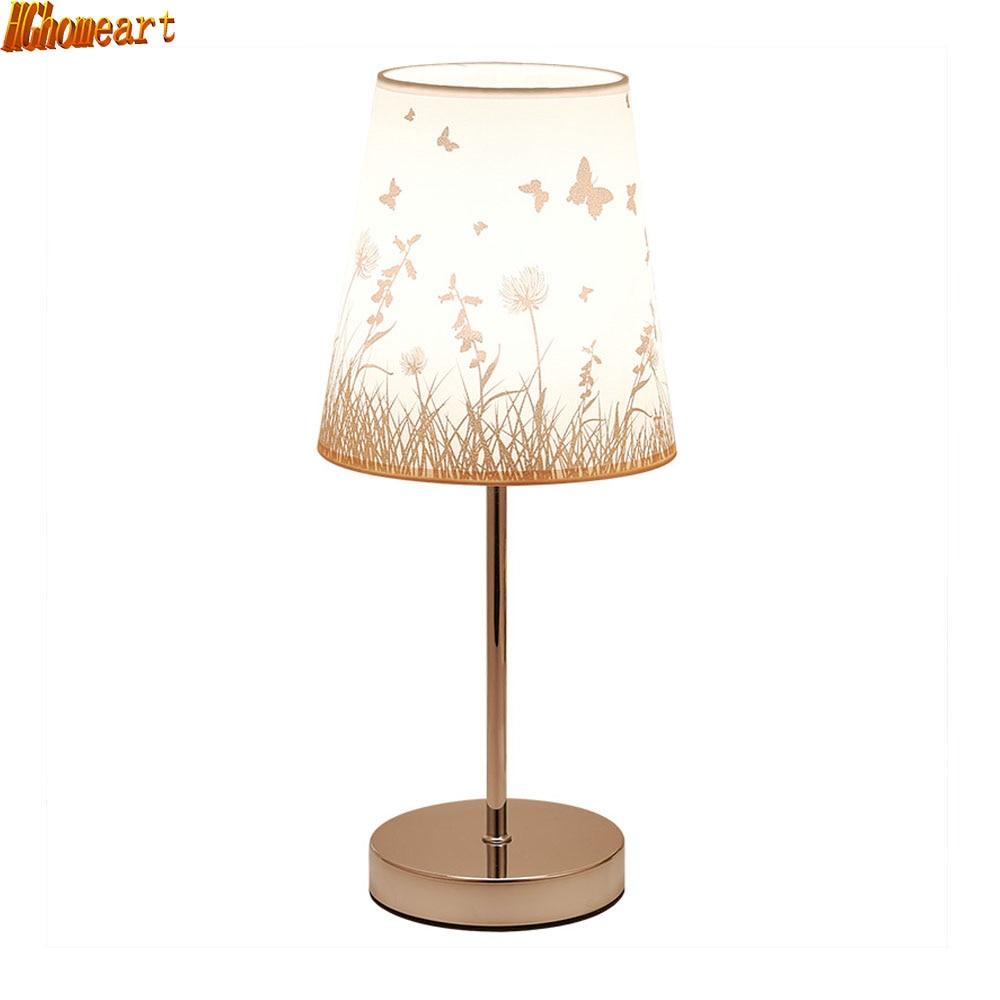HGhomeart Continental Modern Stylish Table Lamp Bedroom Bedside Living Room Adjustable Kids Eye Treatment Energy Saving Lamp стоимость