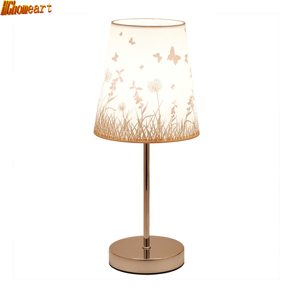 HGhomeart Continental Modern Stylish Table Lamp Bedroom Bedside Living Room Adjustable Kids Eye Treatment Energy Saving Lamp