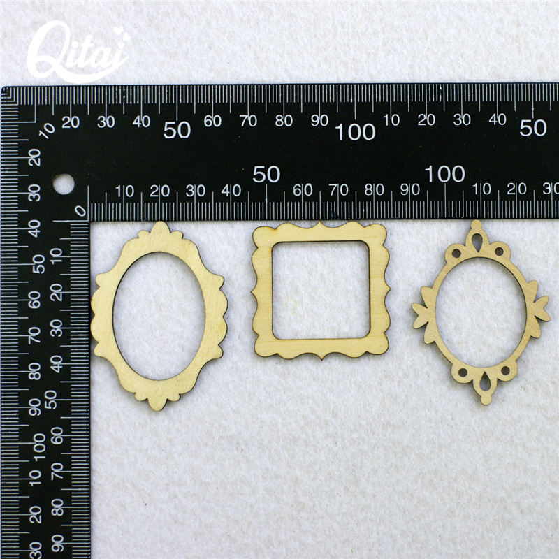 QITAI 72 teile/los Holz Form Vintage DIY Holz Furnier Rahmen Mini ...