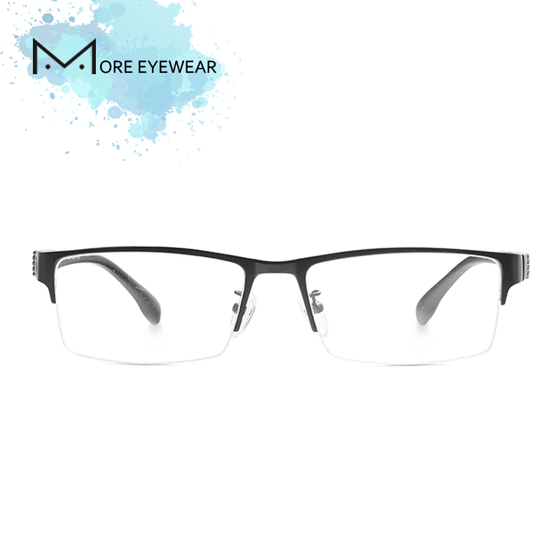 Alloy Man Glasses Frame Metal & TR Prescription glasses with optical lens Male Frame Blue Cut Computer glasses Ultralight