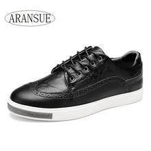 Black & white color 2016 fashion new style men shoes cow leather lace up men's casual shoes boys shoes flats comfortable,#3974