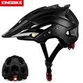 KINGBIKE велосипедный шлем со съемным козырьком Casco Ciclismo матовый черный велосипедный дорожный горный MTB шлем Мужской Женский Мужской шлем