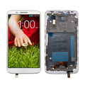 White For LG G2 D800 D801 D803 LCD Display + Touch Screen Digitizer Assembly + Bezel Frame, free shipping!!
