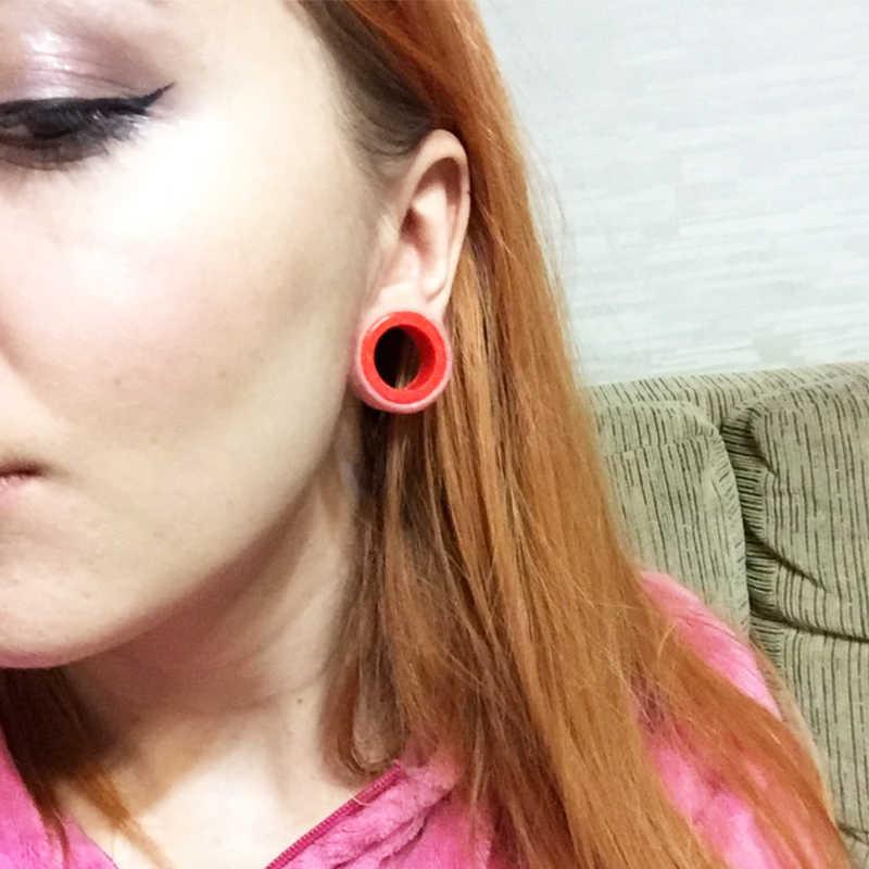 3 26mm Silicone Ear Flesh Tunnels Flexible Ear Plugs Fashion Ear Expanders Tunnel Earrings Body Jewelry Piercing Earrings Gauges