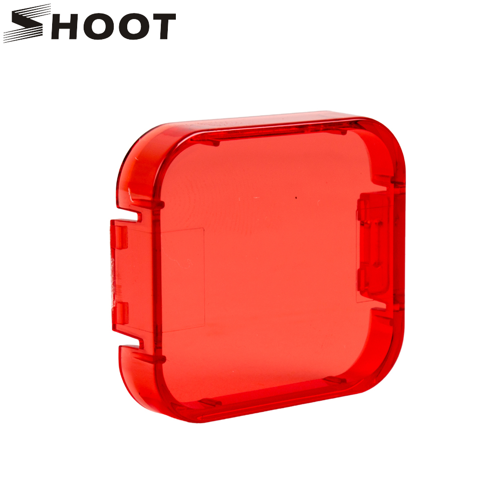 SHOOT 6 Colors Diving Filter for GoPro Hero 6 5 Black Camera Cover Lens Cap Red Gray Purple Orange Filter For Go Pro Accessories justone professional diving housing yellow orange purple filters for gopro hero 3