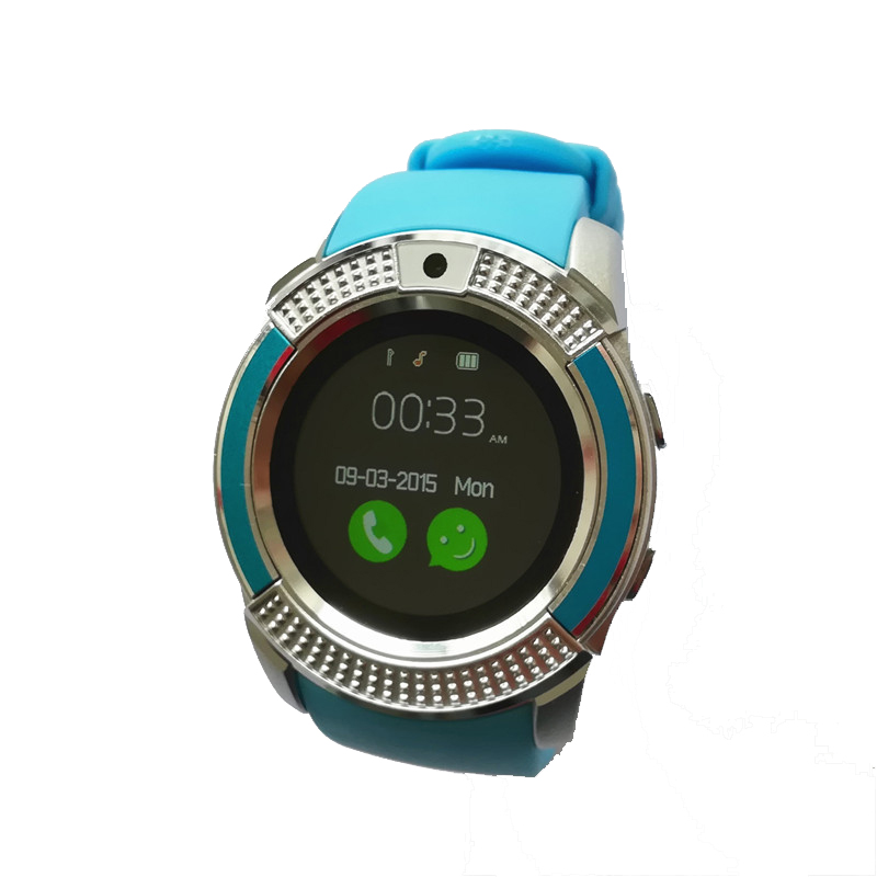 SOVOGU G24 Bluetooth Smart watches V8 1 22 inch Touch Screen Sleep Tracker  Camera Passometer SIM Card 0 3 MP Camera For Android