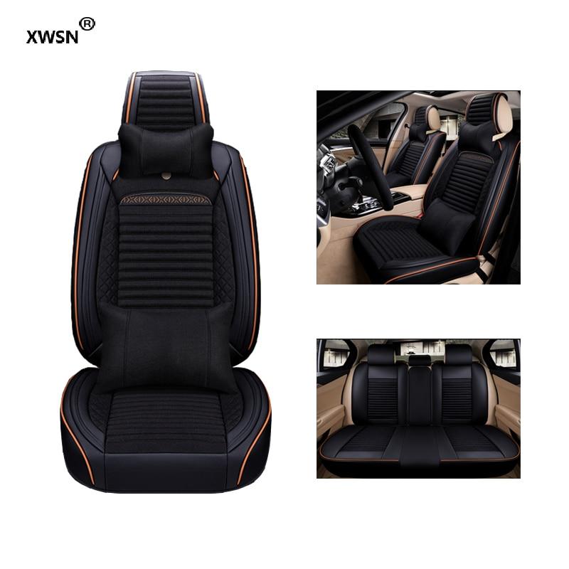 Universal leather linen car seat cover for Toyota Camry Corollay Rav4 LANDCRUISER Auris Prius highlander Land Cruiser