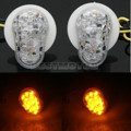 2PCS Flash Mount Amber LED Turn Signal Light for YAMAHA R1 R6 R6S FZ1 FZ6 Fazer 2002-2008 03 04 05