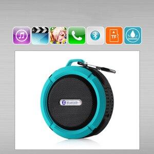 Image 2 - KOOYUTA yeni açık spor su geçirmez IP65 bluetooth hoparlör stereo taşınabilir emme Handsfree yürüyüş bisiklet seyahat
