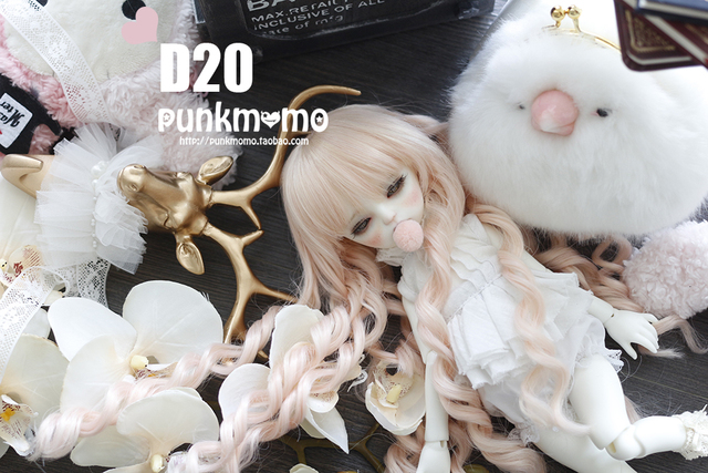 1/3 1/4 BJD парик куклы DIY высокотемпературная розовые длинные вьющиеся волосы для бжд / DD dollfie