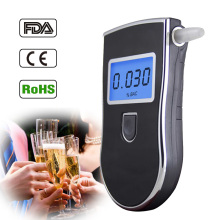 Professional Quick Response police Alcohol Tester Digital Breathalyzer Protable Analyzer Detector with 5 Mouthpieces Free SP