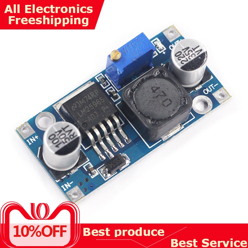 Power-Supply-Module Voltage-Regulator Lm2596s Adjustable Dc-Dc Step-Down 5V 3V 24V 3A