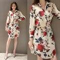 Rose summer fashion dress women bodycon floral dress flor sexy gasa dress elegante vestidos túnica blusas mujer harajuku