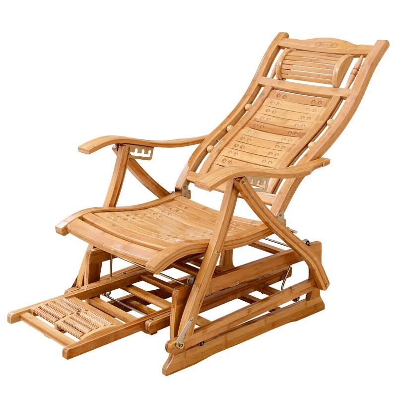 Modern Bamboo Rocking Chair Adult Glider Rocker Natural Bamboo Furniture Indoor Living Room Chair Armchair Recliners For Elderly