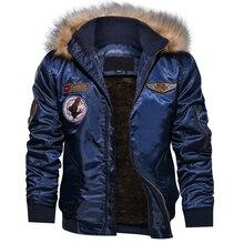 EU Size S-XXL Winter Jacket Men Fashion Hooded Fur Collar Th