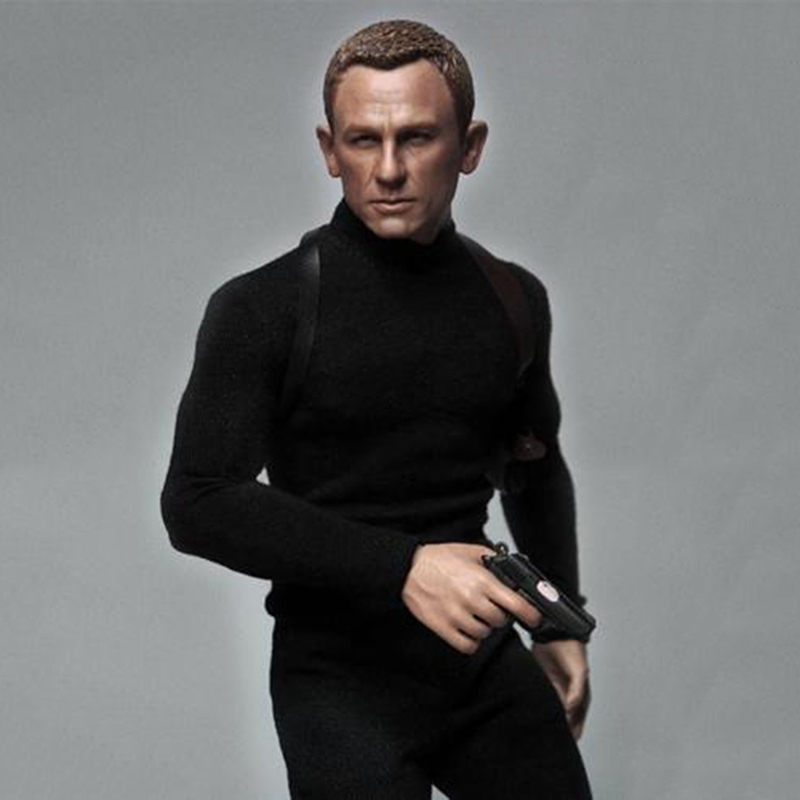 1/6 007 Agent Daniel Craig James  Head & Clothing Suits For 12 inches Male Figure