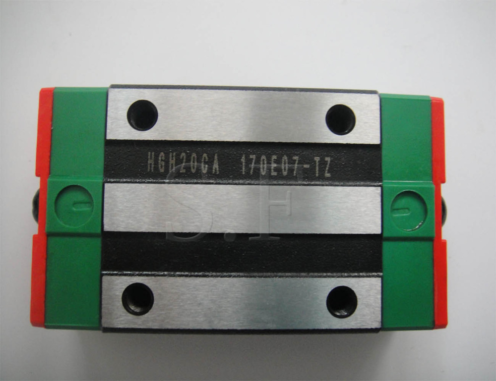 Taiwan HIWIN HGH20CA linear bearing Narrow carriage sliding block HGH20 CA slider matched HGR20 20mm linear guide large format printer spare parts wit color mutoh lecai locor xenons block slider qeh20ca linear guide slider 1pc