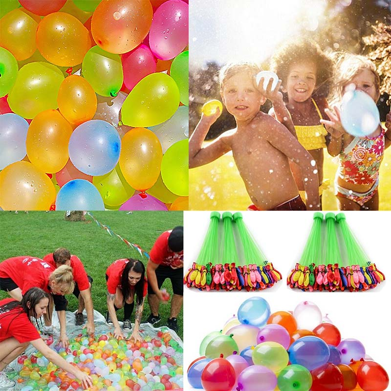 222Pcs Water Bombs Balloon Magic Filling Kits Kids Children Pool Ballon Toy Prank Game Summer Outdoor Beach Ball Toy Adult Party