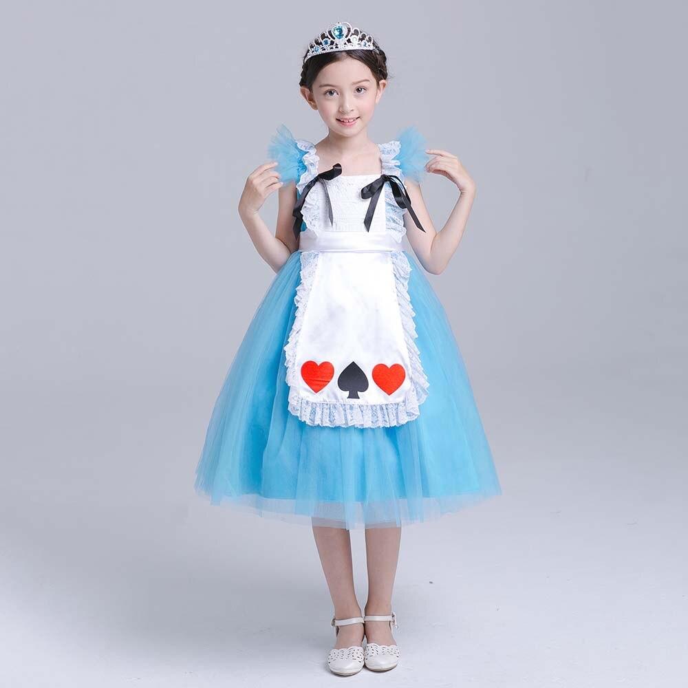 Kids Girls Princess Costume Fairytale Dress Up Belle Cinderella ...