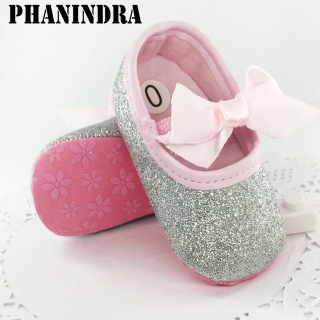 928d67180fb7 New born baby shoes First Walker Girls Toddler Cotton Sequin with  butterfly-knot Infant Soft Sole Crib Shoes baby moccasin Shoes