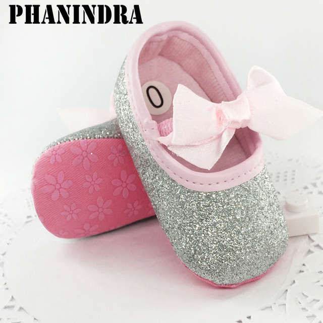 New born baby shoes First Walker Girls Toddler Cotton Sequin with butterfly-knot  Infant Soft 4dcd391af554