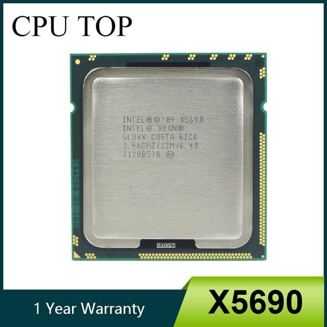 Intel processador xeon x5690, processador de 3.46ghz 6. 4gt/s 12mb, 6 core, 1333mhz slbvx