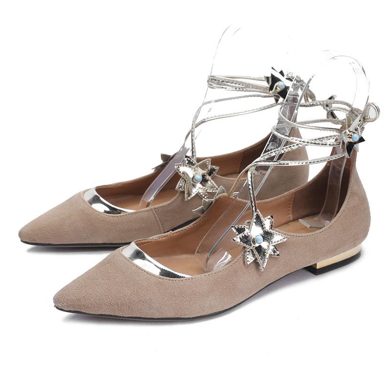 2016 Designer Shoes Woman Genuine Leather Women Flats ...