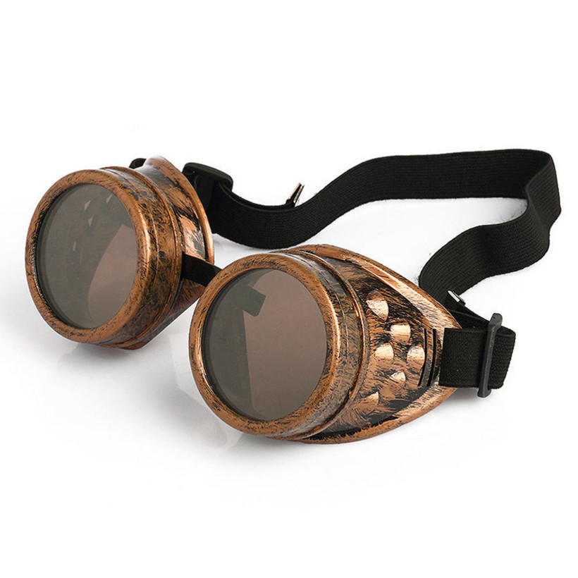NYWOOH Goggles Steampunk Glasses Men Vintage Welding Steam Punk Gothic Sunglasses Male Retro Halloween Cosplay
