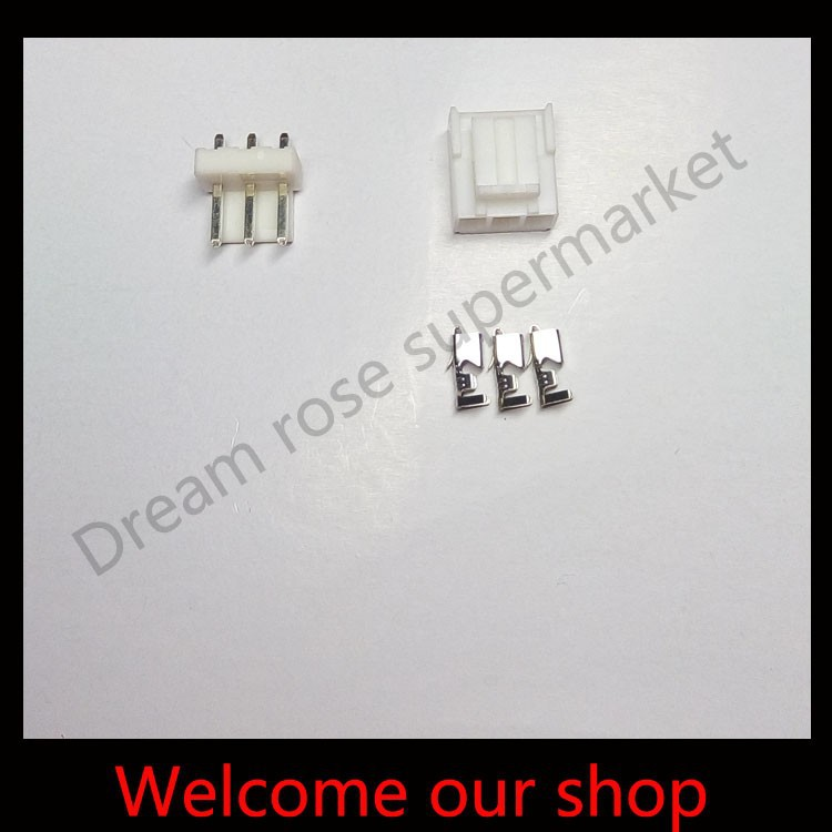 50sets VH3.96 3Pin male female connectors plugs pitch 3.96mm Pin Header+Terminal+Housing free shipping