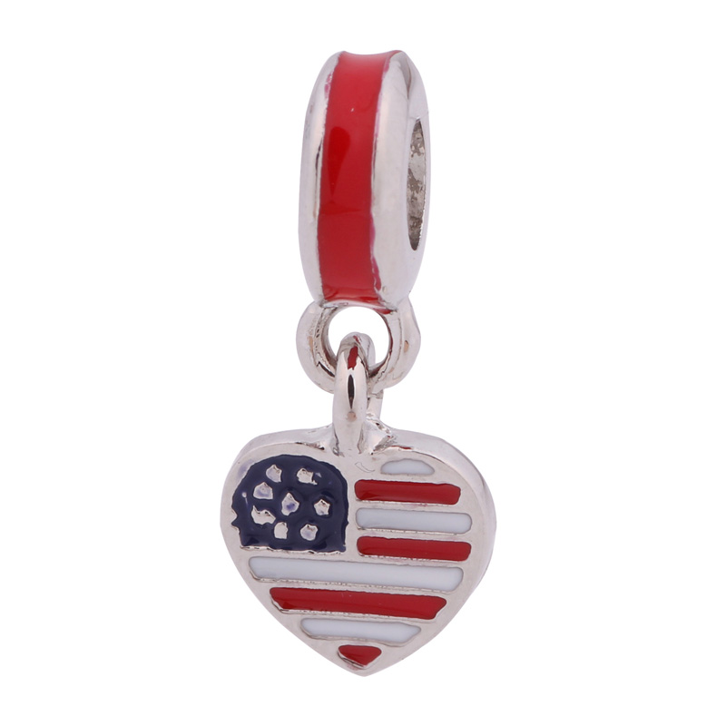 charm pandora bandiera americana