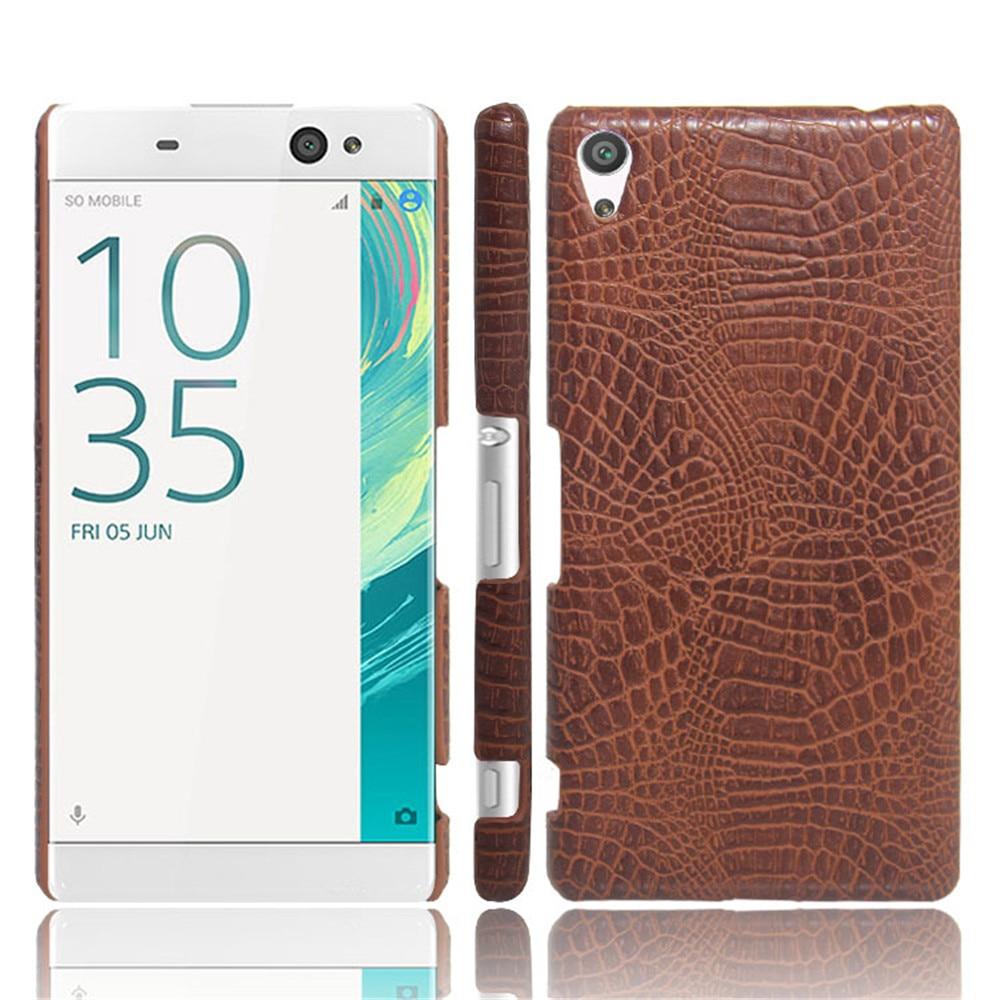 For Sony Xperia XA Ultra Case 6.0 inch Luxury Crocodile Skin Hard Thin Slim Back Cover Case For Sony C6 F3212 F3216 Phone Cases