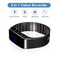 8 GB Armbanduhr Mini Voice Recorder Gravador de Audio Voice Aktiviert Aufnahme Armband Wearable Rekord MP3 Player Reloj Espia