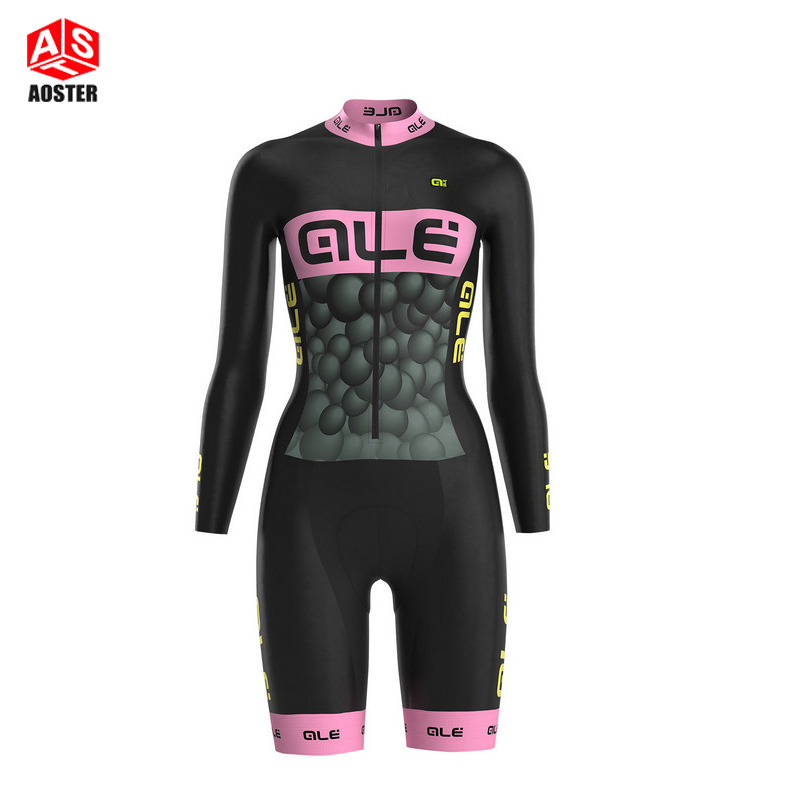2016 Women Pro Cycling Jersey skinsuits Bike Clothing Slim Long Sleeve breathable Bicycle Cycling Clothes Roupa Ciclismo