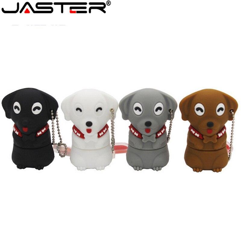 JASTER USB 2.0 Cartoon Animal Pen Drive New Model Dog Usb Flash Drive 4GB 8GB 16GB 32GB 64GB Cartoon Gift Free Shipping