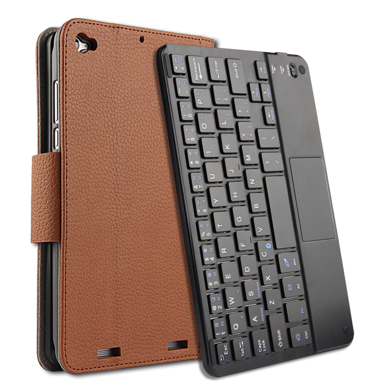 Wireless Bluetooth Keyboard + PU Leather Cover Protective Smart Case For Xiaomi Mipad2/3 Mipad 2 / Mipad 3 7.9 inch Tablet +Gift pu leather case cover for 12 9 inch laptop bag notebook protective sleeve stylus with wireless bluetooth keyboard as gift