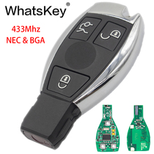 WhatsKey 3 Buttons 433MHz Smart Remote Key For Mercedes Benz 2000+ NEC&BGA type replace NEC Chip MB C E W222 W211 W210 W204