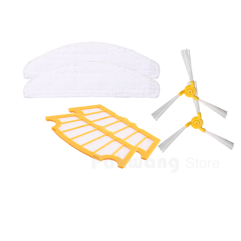 Original A325 Robot vacuum cleaner filter 2 pcs Mop 2 pcs and Side brush 2 pcs 2016 robot vacuum cleaner a325 spare parts side brush 2 pcs rubber brush 1 pc hair brush 1 pc filter 2 pcs mop 3 pcs