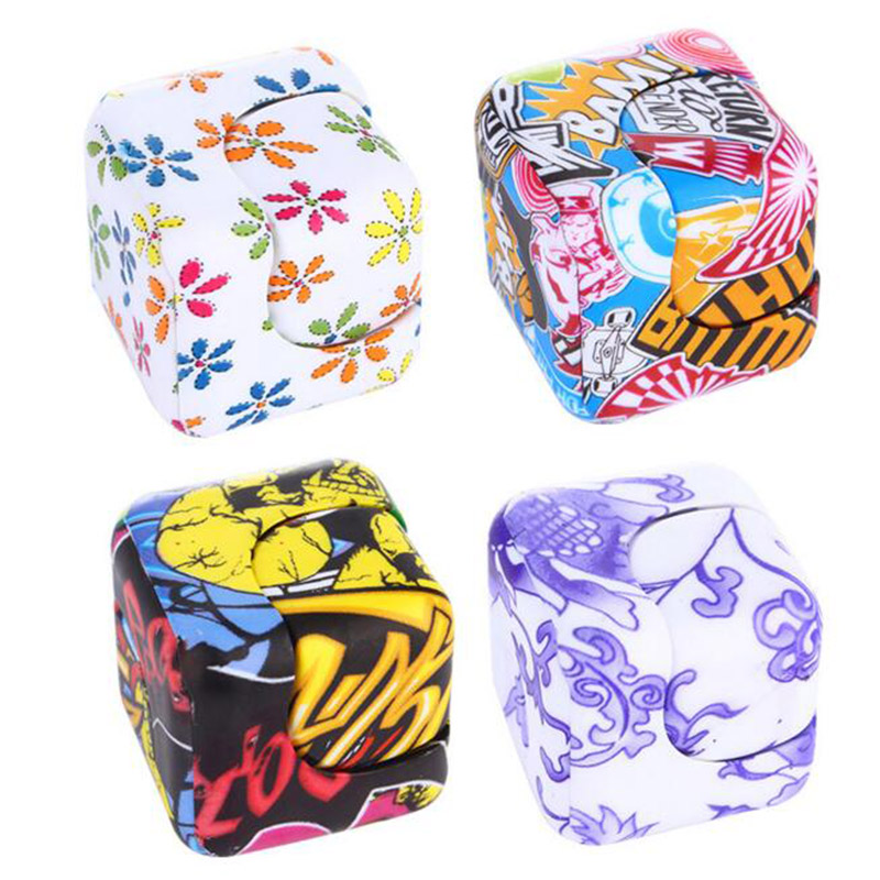 2017 New Plastic cool fidget spinners cube hand spinner professional stress cube figet spiner Fidget hand