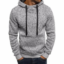 Winter Solid Hoodie 2018 New Men's Casual Tracksuits Mens Hi