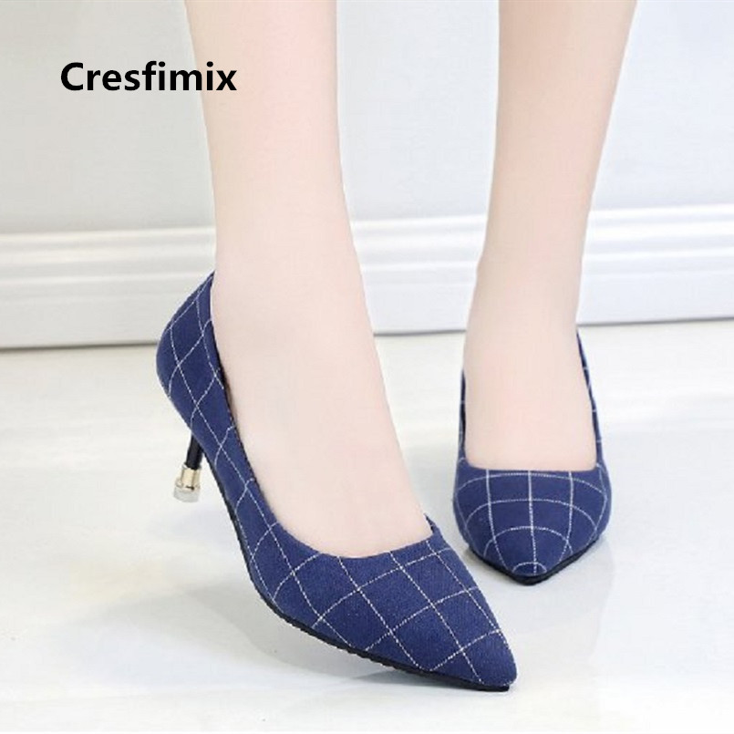 Cresfimix tacones altos sexy mujer women sexy party black plaid slip on high heel shoes lady casual office high heel shoes a2990Cresfimix tacones altos sexy mujer women sexy party black plaid slip on high heel shoes lady casual office high heel shoes a2990