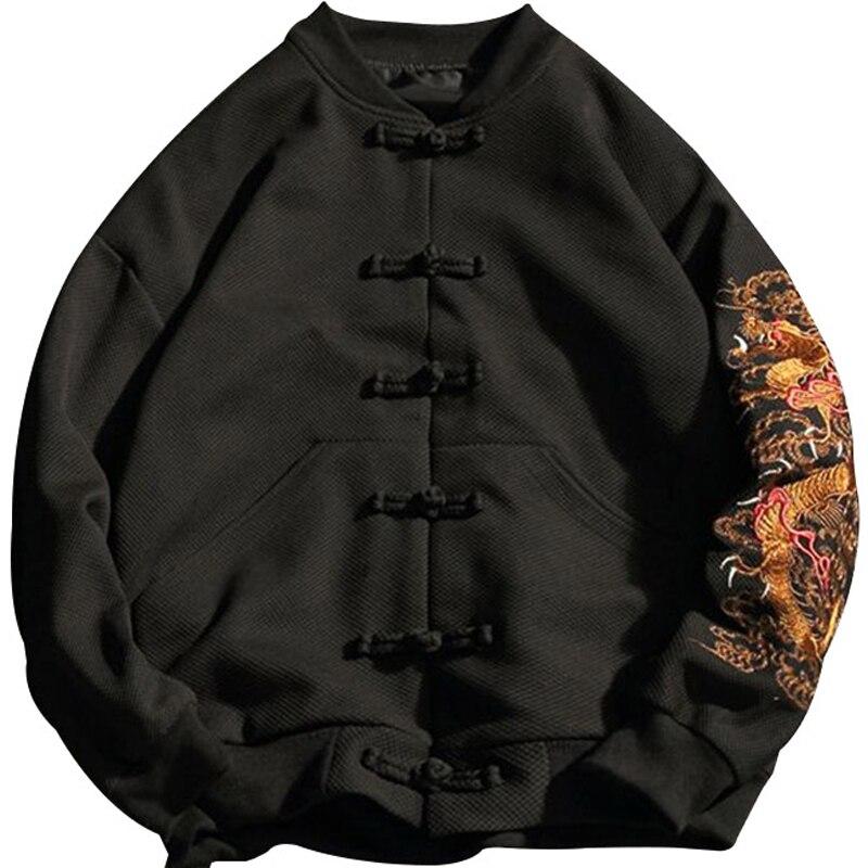 Winter Plus size 2xl 7xl 8xl gebreide Hoodies europese knop bovenkleding grote mannelijke turn down kraag thermische zwarte Sweatshirts