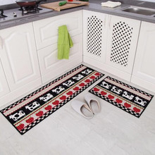 40X60CM+40x120CM/Set Long Kitchen Mat Anti Slip Bathroom Carpet Absorb  Water Kitchen Carpet Home Entrance Doormat Bathroom Rugs