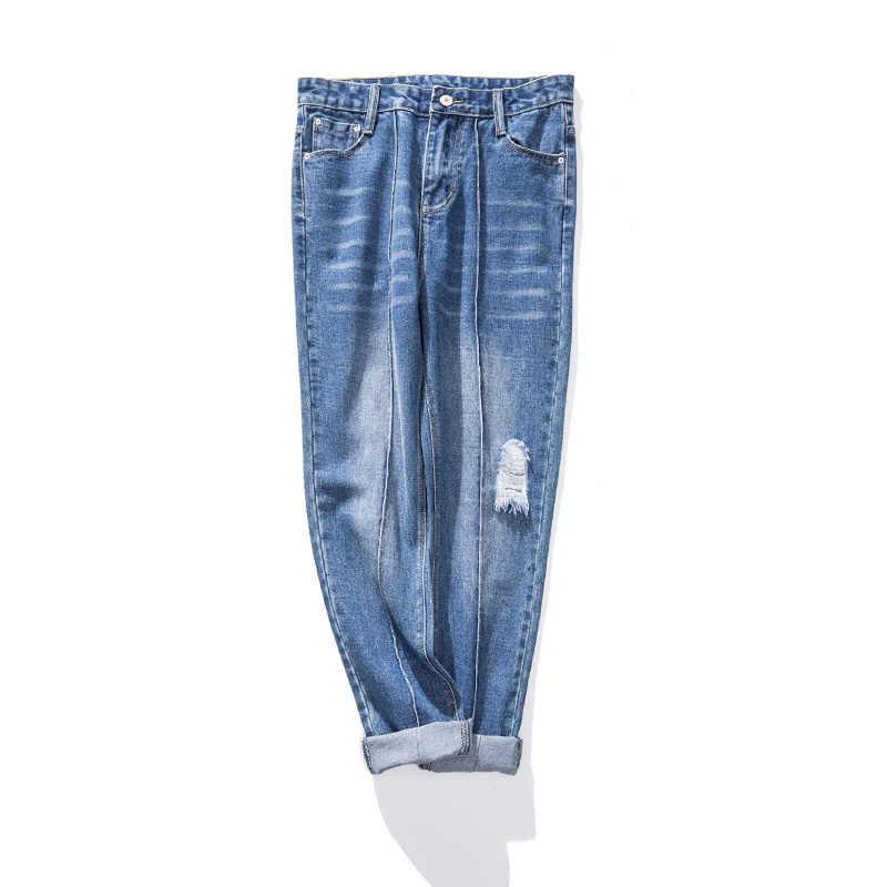 Женские джинсы-шаровары, большие размеры, брюки, джинсы для женщин, джинсы с принтом «Tie Dye», винтажные рваные джинсы, потертые модные рваные джинсы, брюки 2019