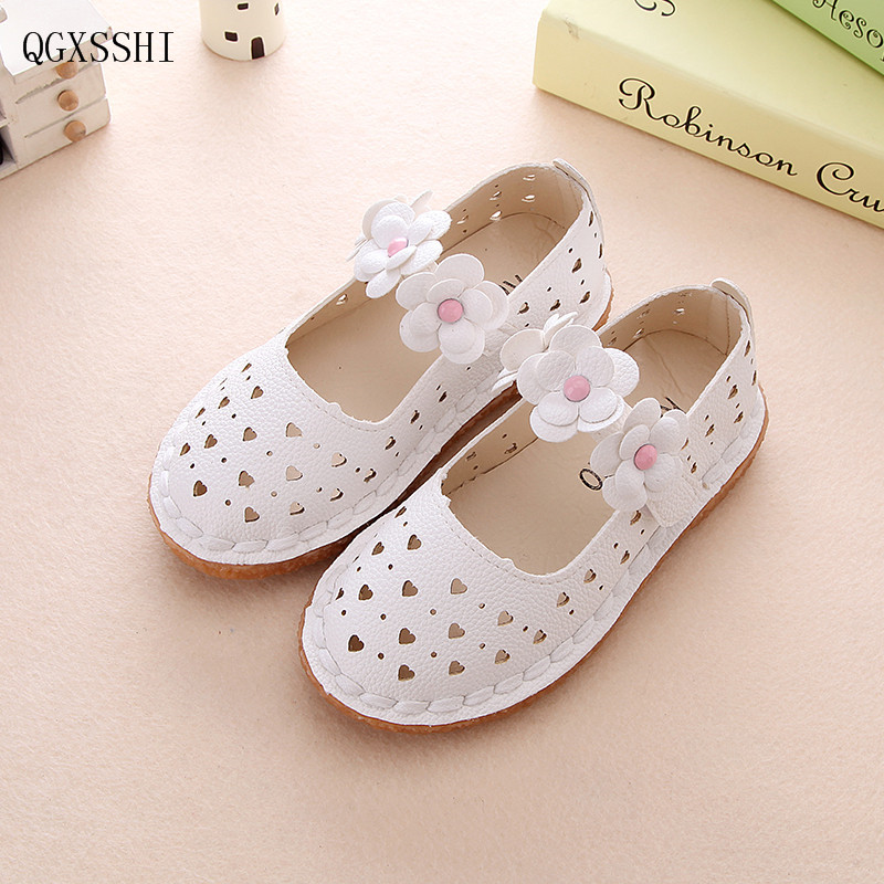 QGXSSHI 1-12 years old children sandals shoes fashion causal baby sandals summer flower soft bottom girls Breathable shoes