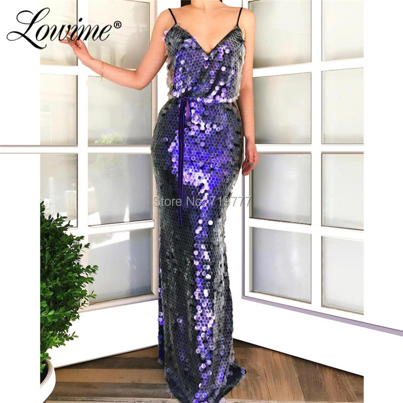 Mermaid Sequin Party   Dress   V Neck Simple   Evening   Gowns 2019 African   Evening     Dress   Long Cheap Prom   Dresses   Robe De Soiree